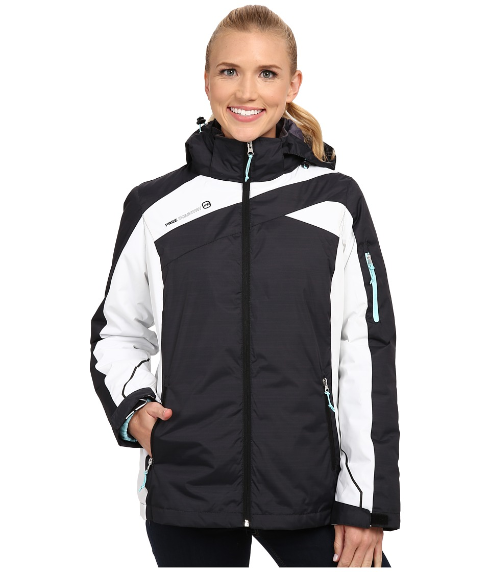 Free Country - 3-in-1 Systems Jacket (Black Combo/Whisper Blue) Women