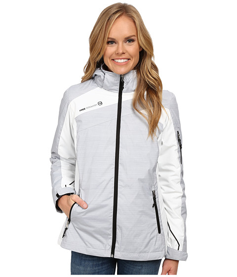 Free Country - 3-in-1 Systems Jacket (Winter Silver Combo/White Black) Women
