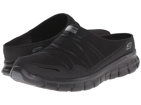 SKECHERS - Synergy - Air Streamer (Black) Women's Slip on Shoes