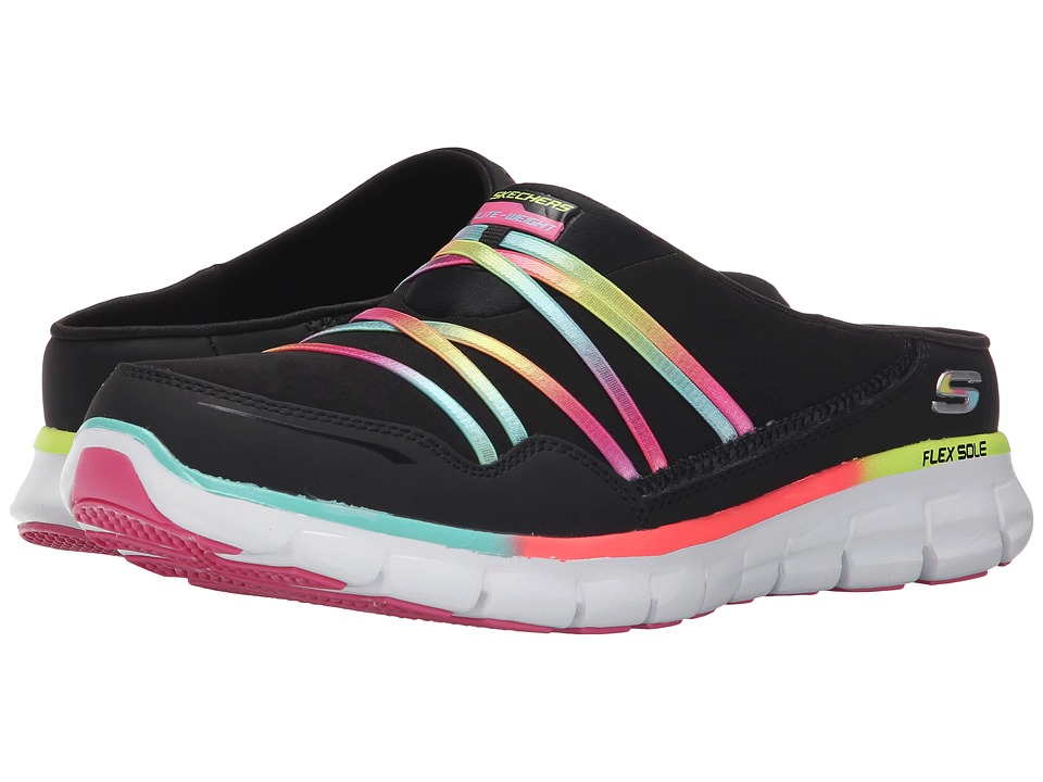 SKECHERS - Synergy - Air Streamer (Black Multi) Women's Slip on Shoes