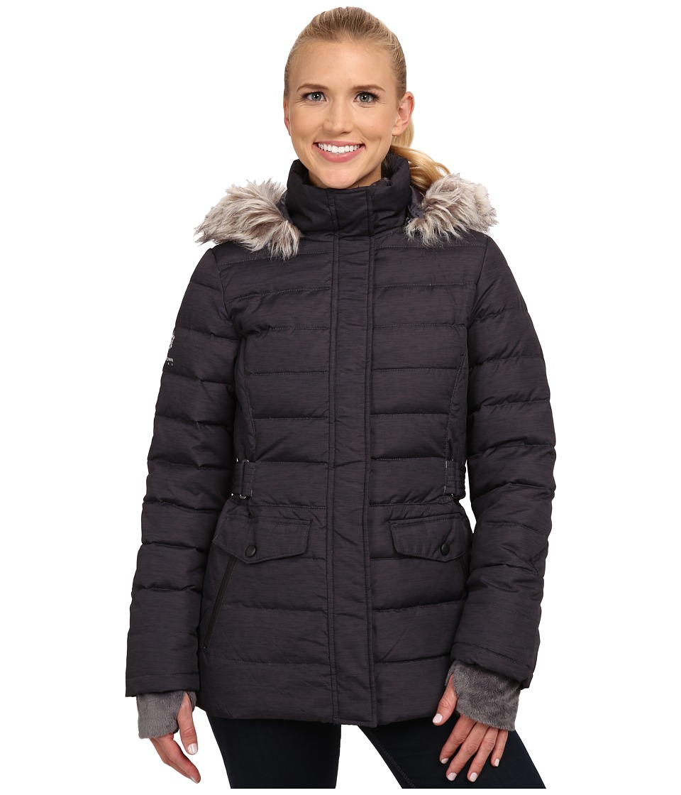 Free Country - Power Down Anorak (Black Dashed Space Dye) Women's Coat