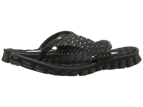 SKECHERS - EZ Flex Cool - Beach Weave (Black) Women's Sandals