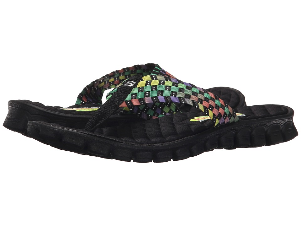 SKECHERS - EZ Flex Cool - Beach Weave (Black Multi) Women