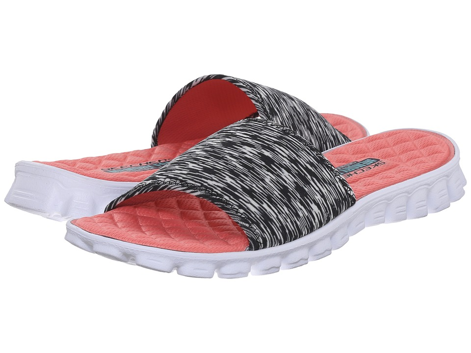 SKECHERS - EZ Flex Cool (Black/White) Women's Slide Shoes