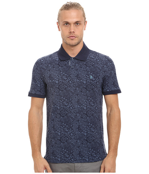 Original Penguin - Paisley Daddy-O Polo (Dress Blues) Men