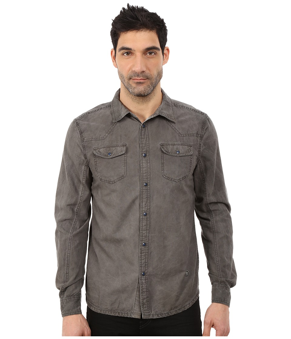 Buffalo David Bitton - Samuel Shirt (Black) Men's Long Sleeve Button Up