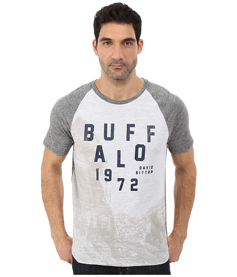 Buffalo David Bitton - Nabeach Short Sleeve Crew Raglan T-Shirt (Heather Ardent) Men