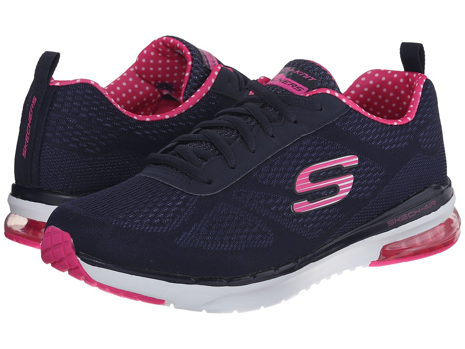 SKECHERS - Skech-Air Infinity (Navy/Pink) Women's Lace up casual Shoes