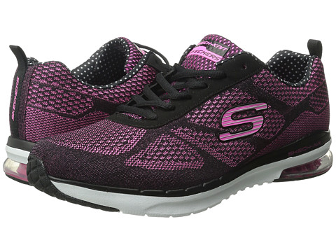 SKECHERS - Skech-Air Infinity (Black/Hot Pink) Women's Lace up casual Shoes