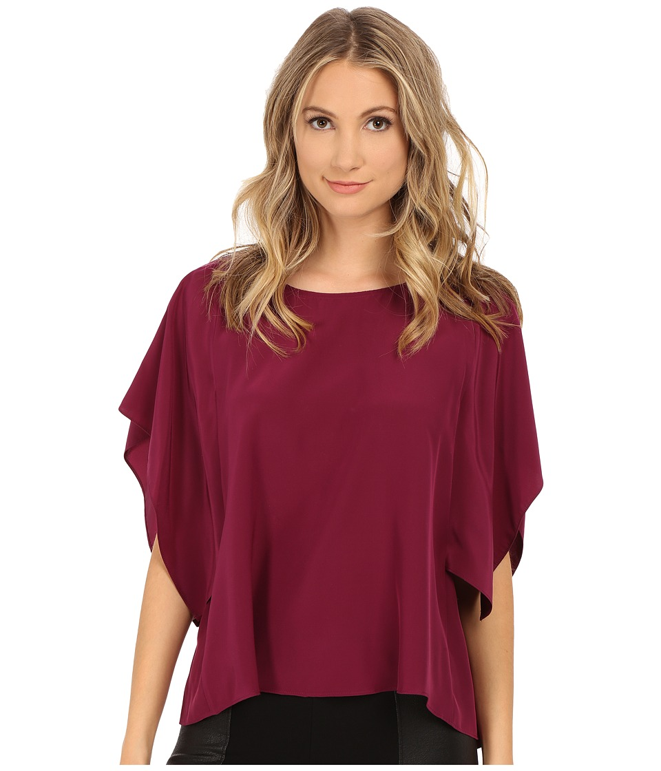 Amanda Uprichard - Effie Top (Mulberry) Women's Blouse