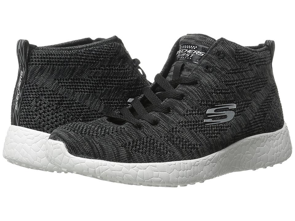SKECHERS - Burst - Grassy (Black 1) Women's Lace up casual Shoes