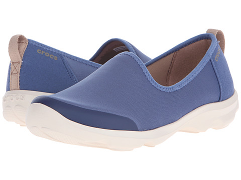 Crocs - Busy Day Stretch Skimmer (Blue/Stucco) Women's Shoes