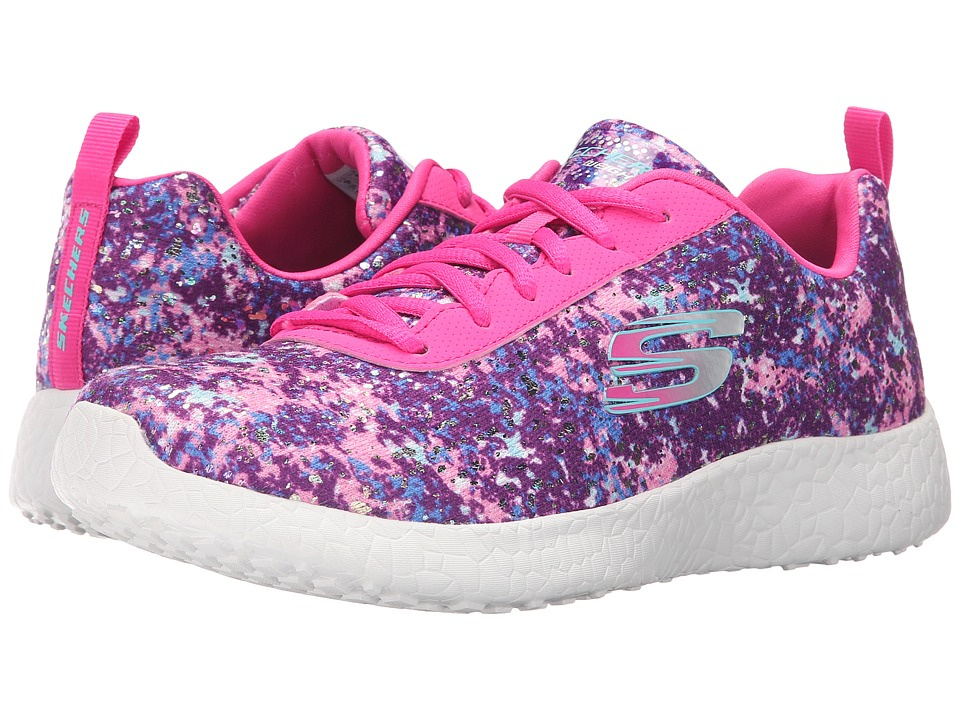 SKECHERS - Burst - Dark Mater (Pink/Multi) Women's Lace up casual Shoes