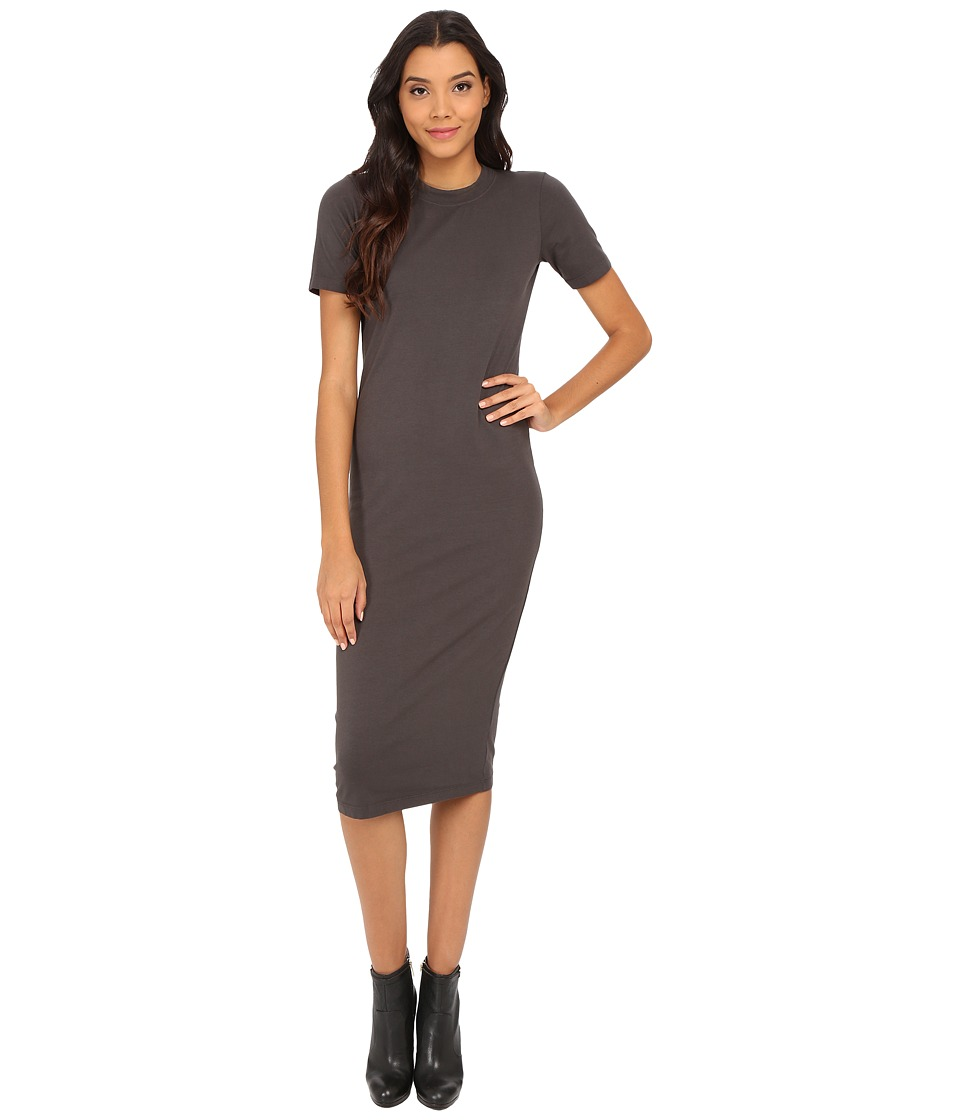 Michael Stars - Cotton Lycra Short Sleeve Crew Neck Midi Dress (Oxide) Women's Dress