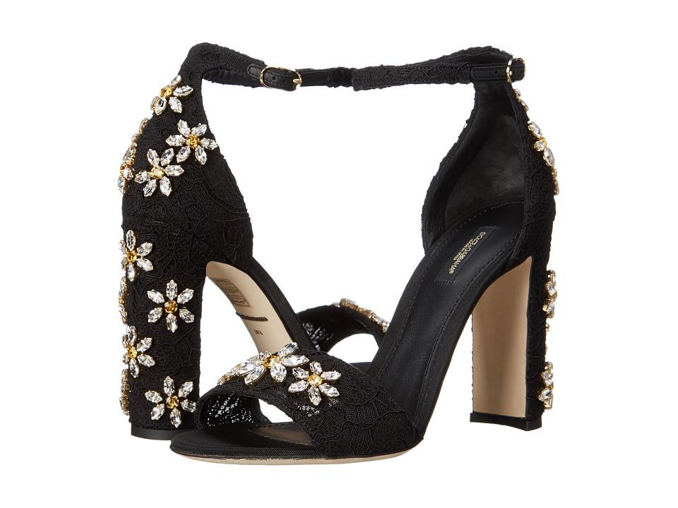 Dolce & Gabbana - Sandalo Pizzo (Nero) Women's Shoes
