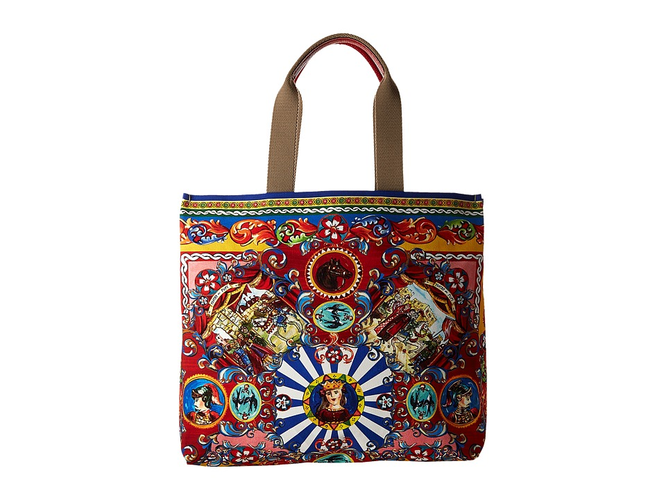 Dolce & Gabbana - Shopping Canvas (Multi Rosso) Handbags