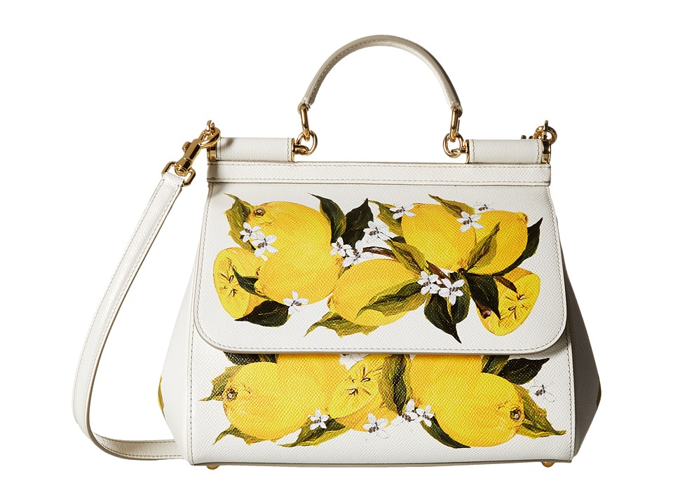 Dolce & Gabbana - Borsa A Mano St. Dauphine (Limoni/Fondo/Bianco) Satchel Handbags
