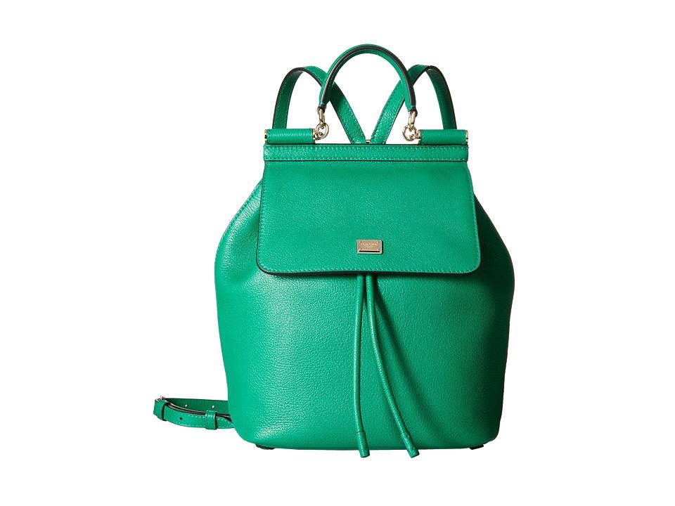 Dolce & Gabbana - Zaino Vit. Bottalato (Smeraldo) Backpack Bags
