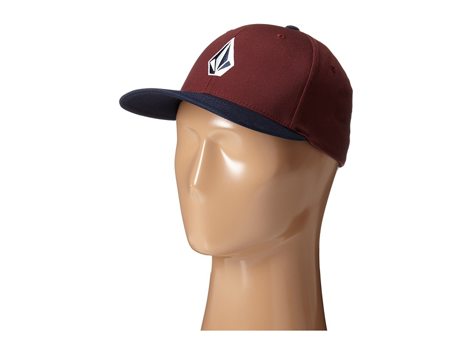 Volcom - Full Stone X-Fit FlexFit (Cherry Wood) Baseball Caps