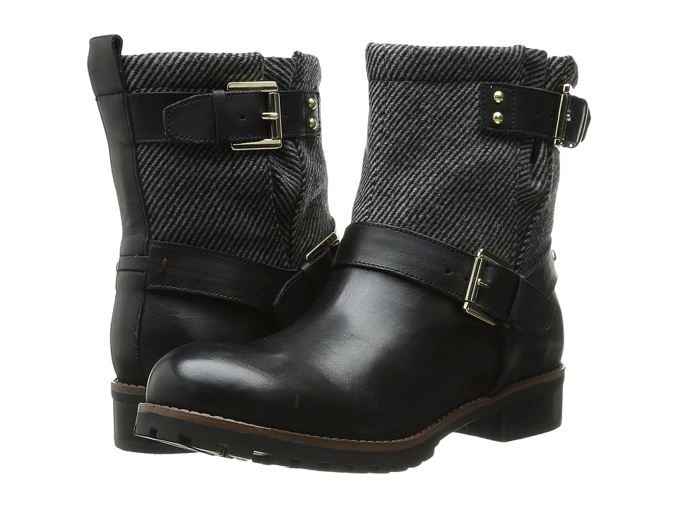 Tommy Hilfiger - Ilona (Black Leather/Grey Flannel) Women's Zip Boots