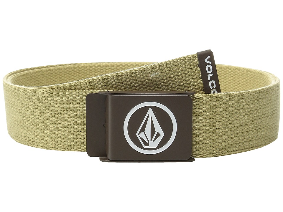 Volcom - Circle Web Belt (Drill Khaki) Men's Belts