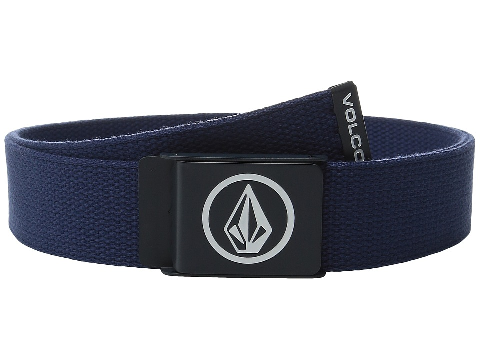 Volcom - Circle Web Belt (Matured Blue) Men's Belts
