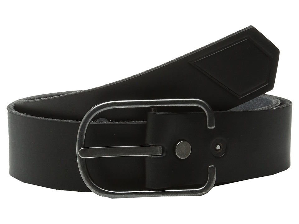 Volcom - Hitch Leather Belt (Black) Men's Belts