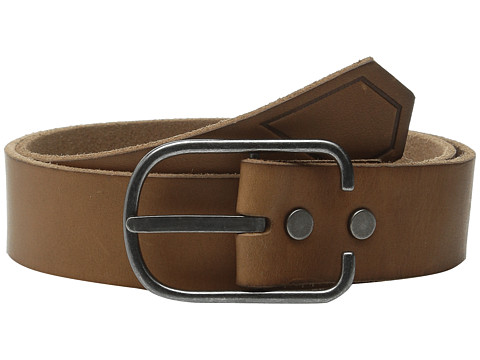 Volcom - Hitch Leather Belt (Brown) Men's Belts