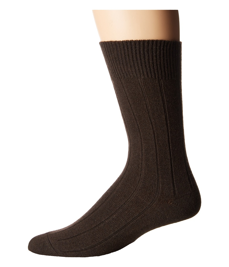 Falke - Lhasa Rib Sock (Brown) Men's Crew Cut Socks Shoes
