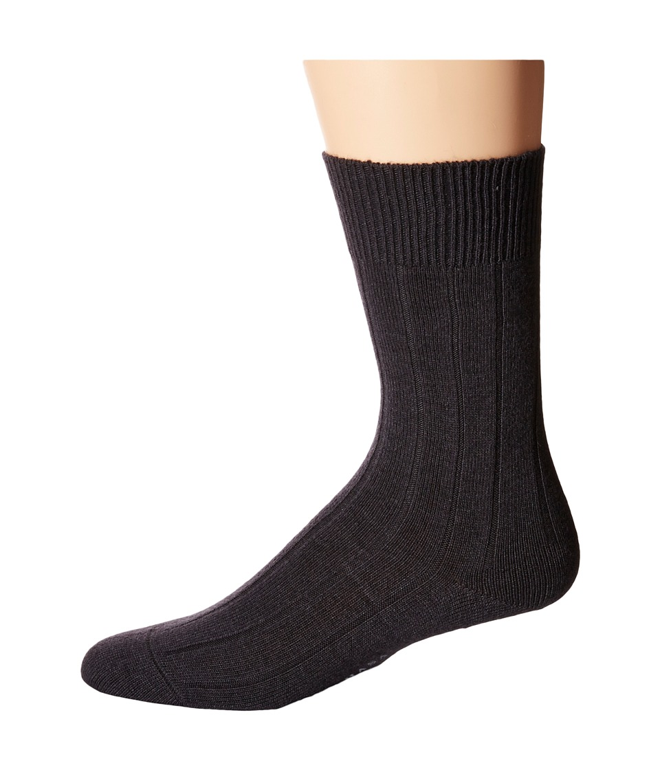 Falke - Lhasa Rib Sock (Anthracite Melange) Men's Crew Cut Socks Shoes