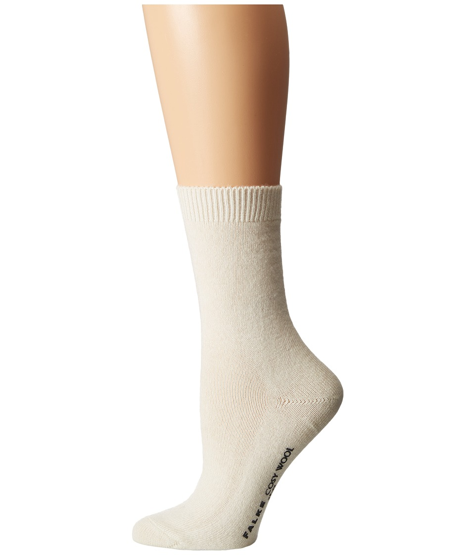 Falke - Cosy Wool Sock (Off-White) Women's Crew Cut Socks Shoes