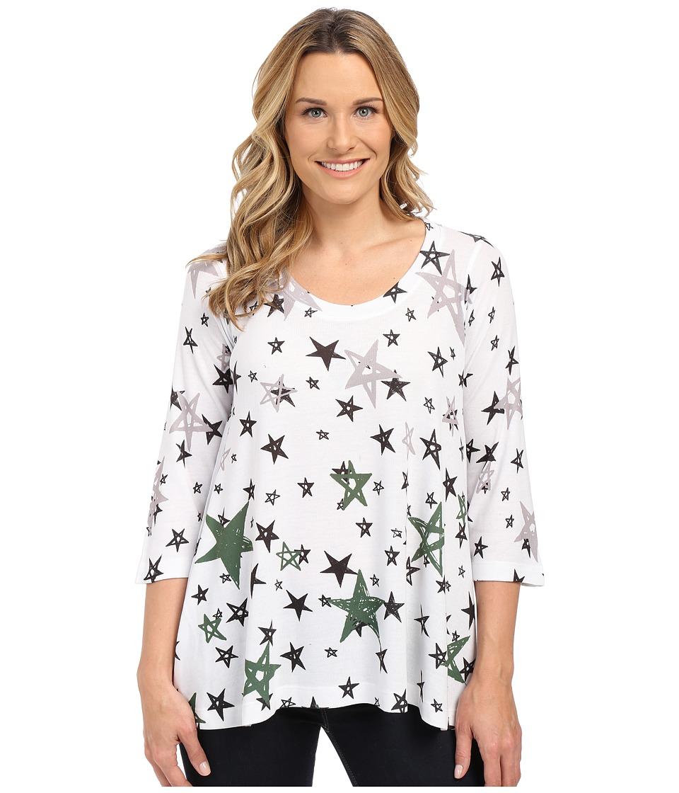 Nally & Millie - Star Print Tunic (Multi) Women's Blouse
