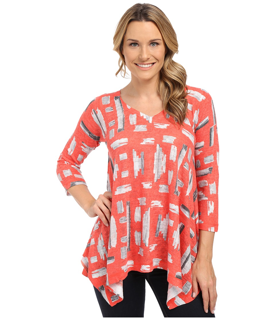 Nally & Millie - Red Tile Print Tunic (Multi) Women's T Shirt