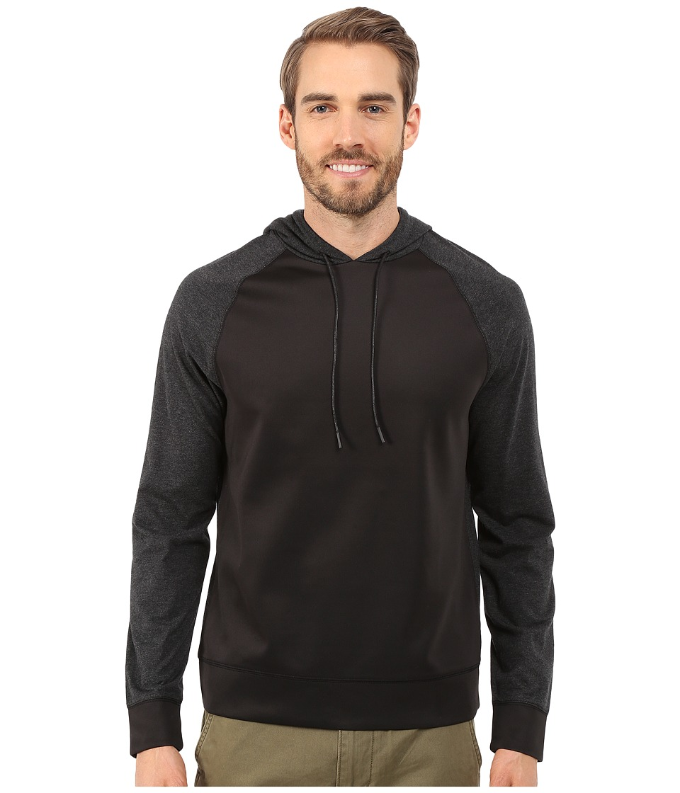 Kenneth Cole Sportswear - Contrast Hoodie (Charcoal Heather) Men's Sweatshirt