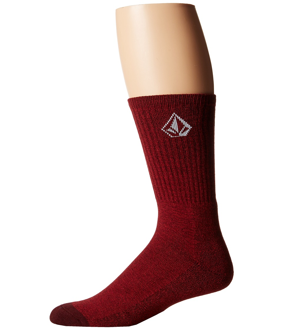 Volcom - Full Stone Heather Socks (Brick) Men