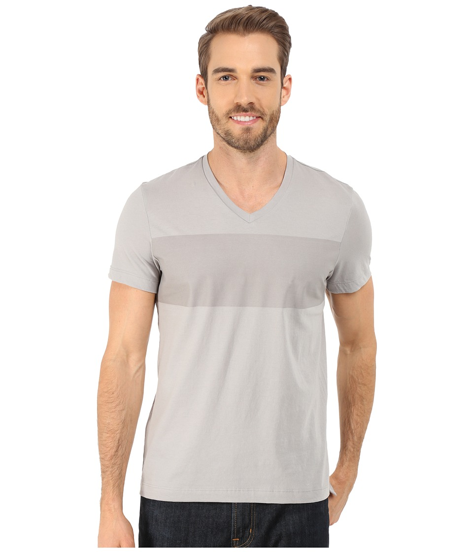 Kenneth Cole Sportswear - Short Sleeve Crew w/ Rubber Print (Seagull) Men's T Shirt