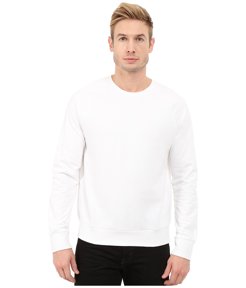 Kenneth Cole Sportswear - Crew Neck w/ Ottoman (White) Men's Sweatshirt