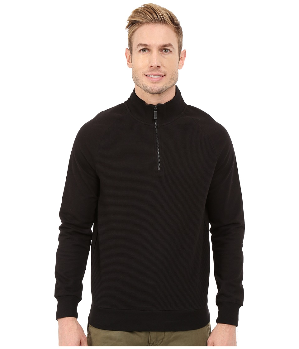 Kenneth Cole Sportswear - 1/2 Zip with Ottoman (Black) Men's Sweatshirt