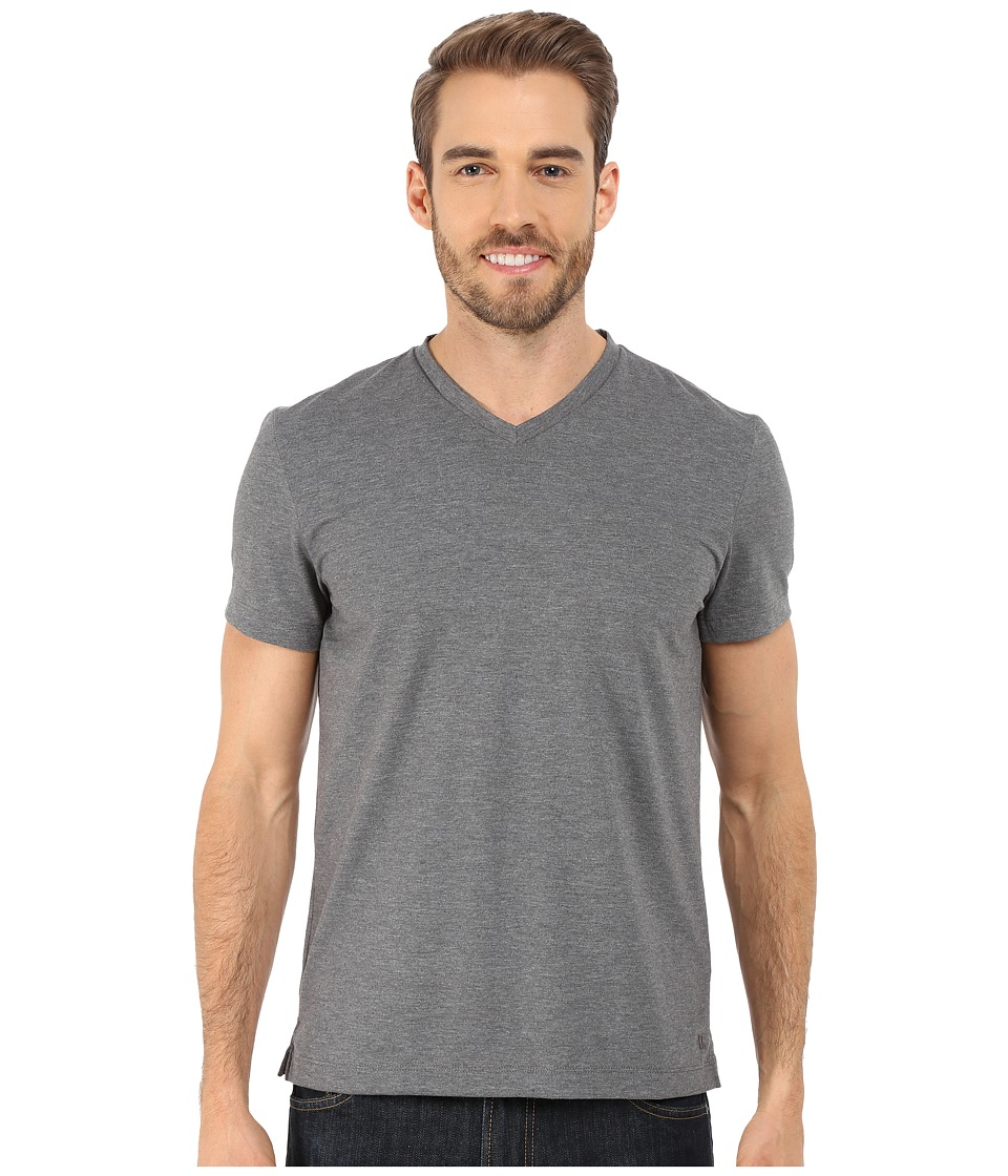 Kenneth Cole Sportswear - Short Sleeve V-Neck (Flannel Heather) Men's Short Sleeve Pullover