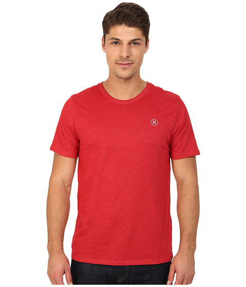 Hurley - Staple Dri-Fit Tee (Heather Redline) Men's T Shirt