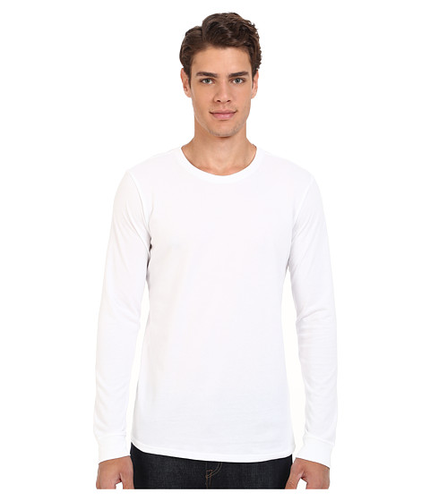 Hurley - Staple Dri-Fit Long Sleeve (White) Men's Clothing