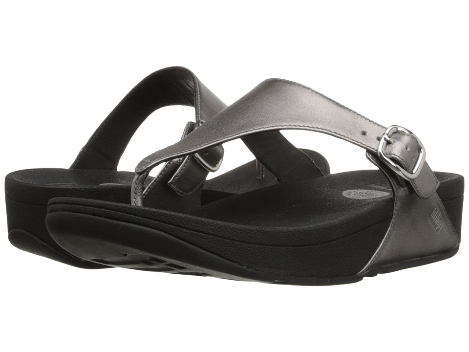 FitFlop - The Skinny Leather (Pewter) Women's Shoes