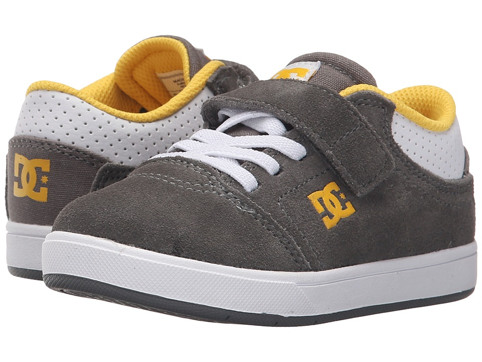 DC Kids - Crisis (Toddler) (Grey/White/Yellow) Boys Shoes