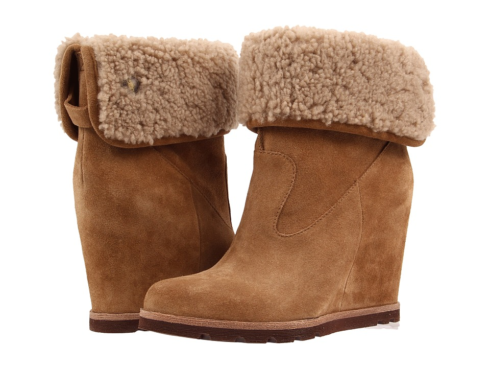 UGG - Kyra (Chestnut Suede) Women's Wedge Shoes