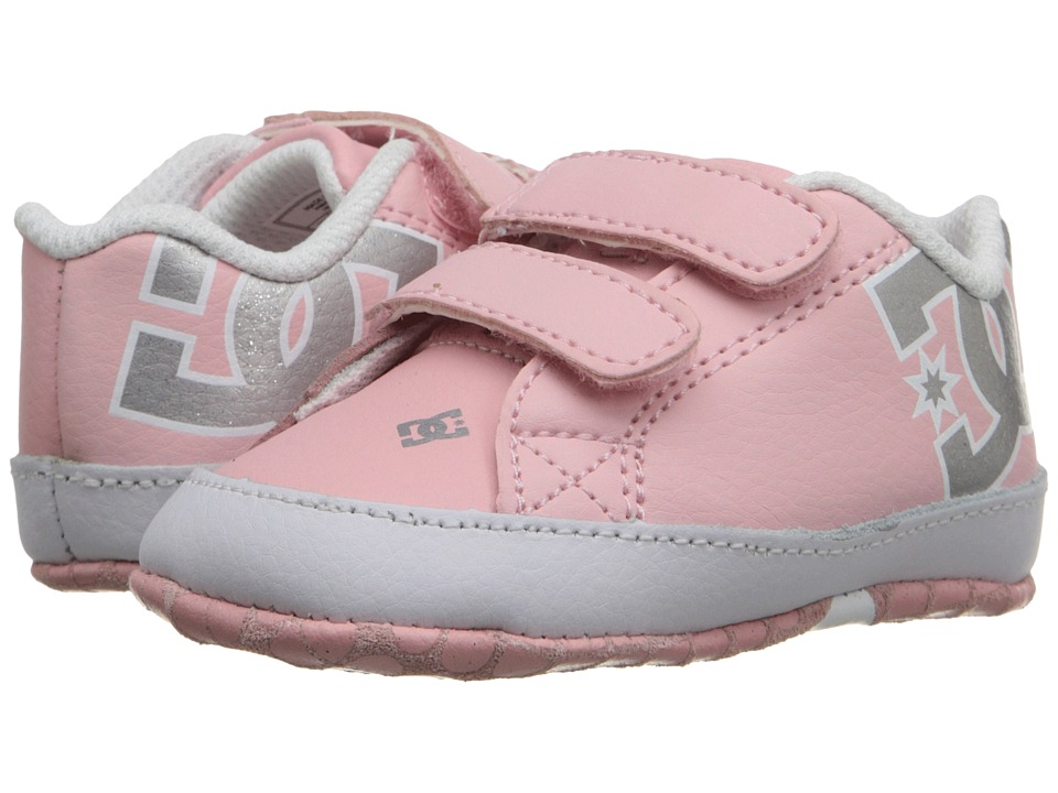 DC Kids Court Graffik Crib (Infant) (Light Pink) Girls Shoes