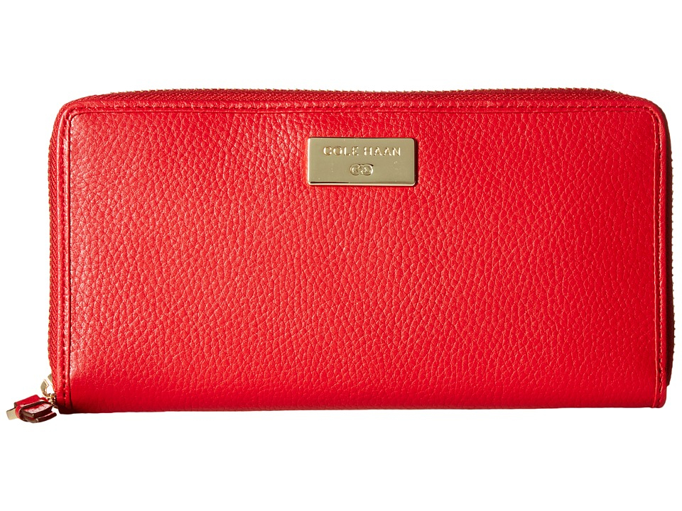 Cole Haan - Continental Zip (Tango Red) Clutch Handbags