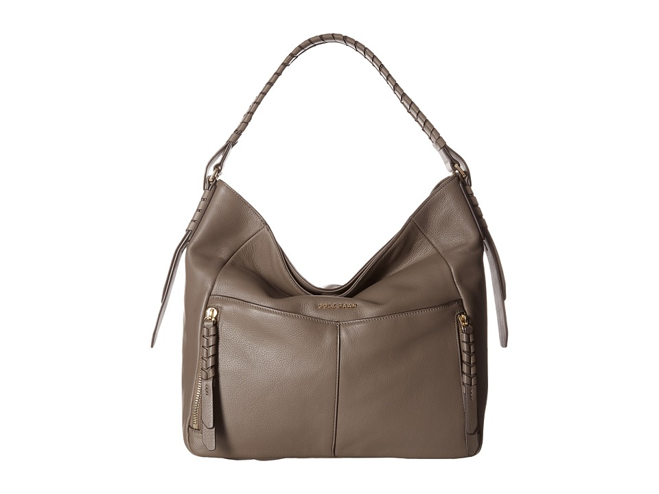 Cole Haan - Double Strap Hobo (Dark Gull Grey) Hobo Handbags