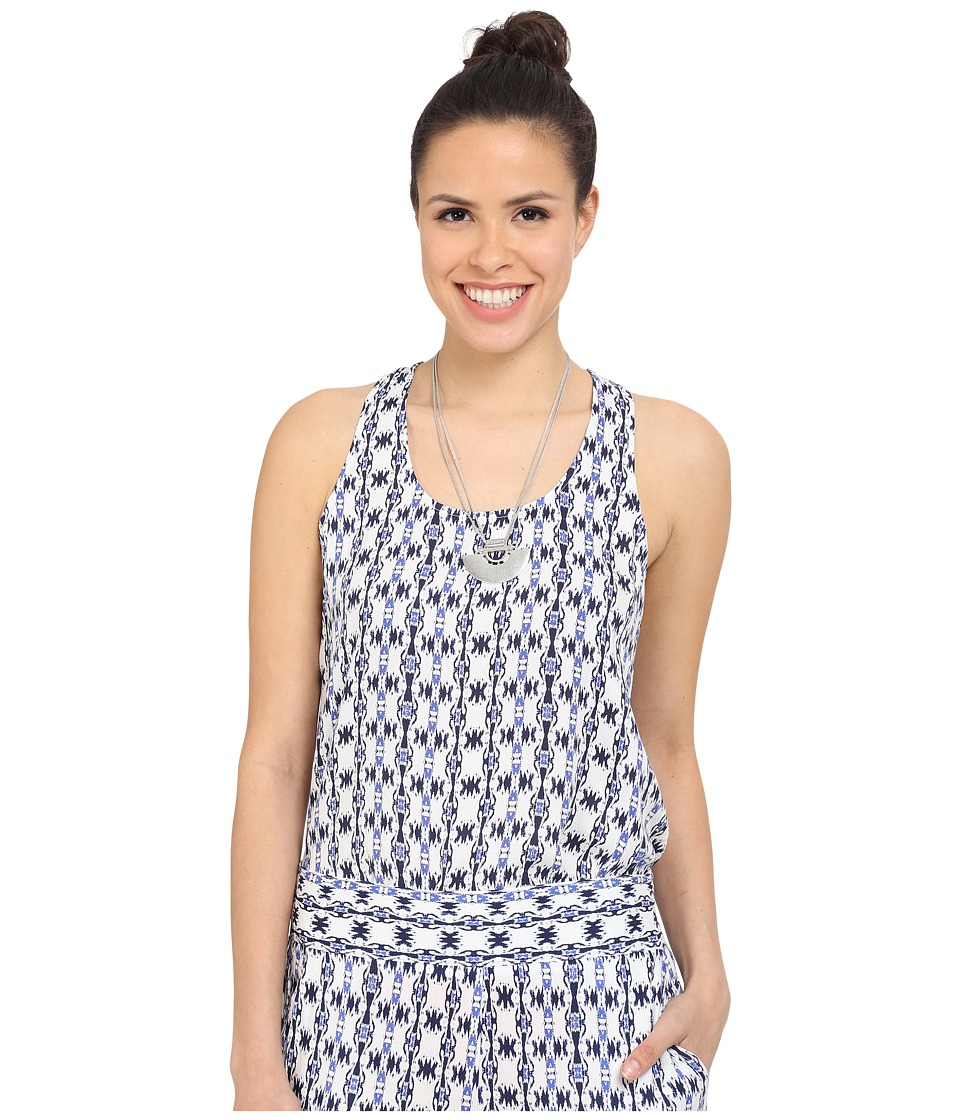 Jack by BB Dakota - Tosy Inkblot Stripe Printed Rayon Crepe Waterfall Tank Top (Multi) Women's Sleeveless