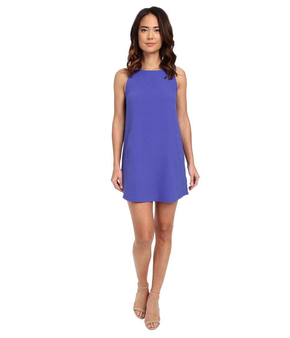 Jack by BB Dakota - Mack Heavy Crepe Crisscross V-Back Shift Dress (Royal Blue) Women's Dress