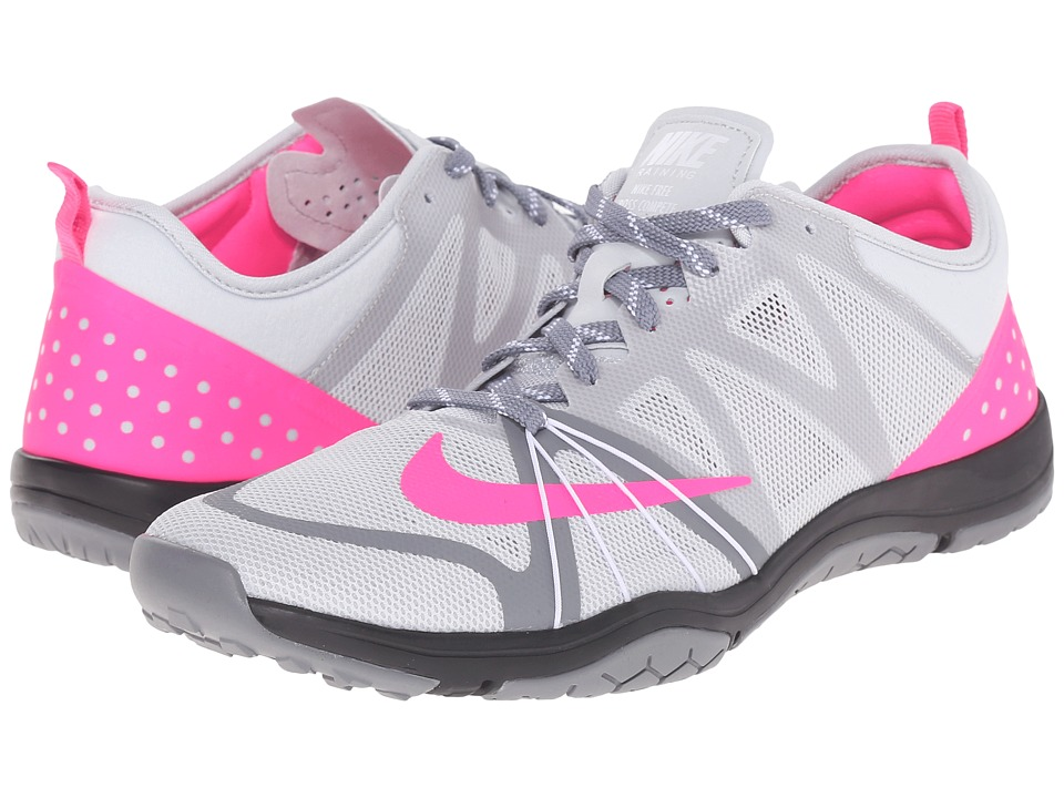Nike - Free Cross Compete (Pure Platinum/Cool Grey/Pink Blast) Women's Cross Training Shoes